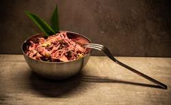 Apfel-Fenchel Coleslaw mit Bacon