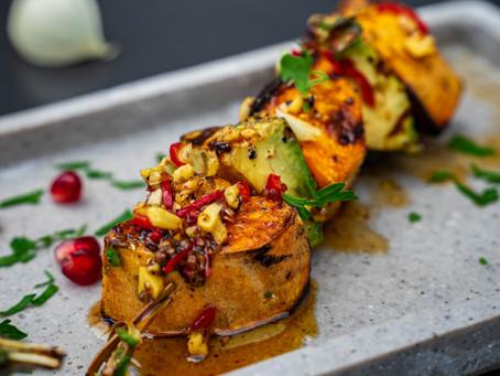 Süßkartoffel-Avocado Spieße