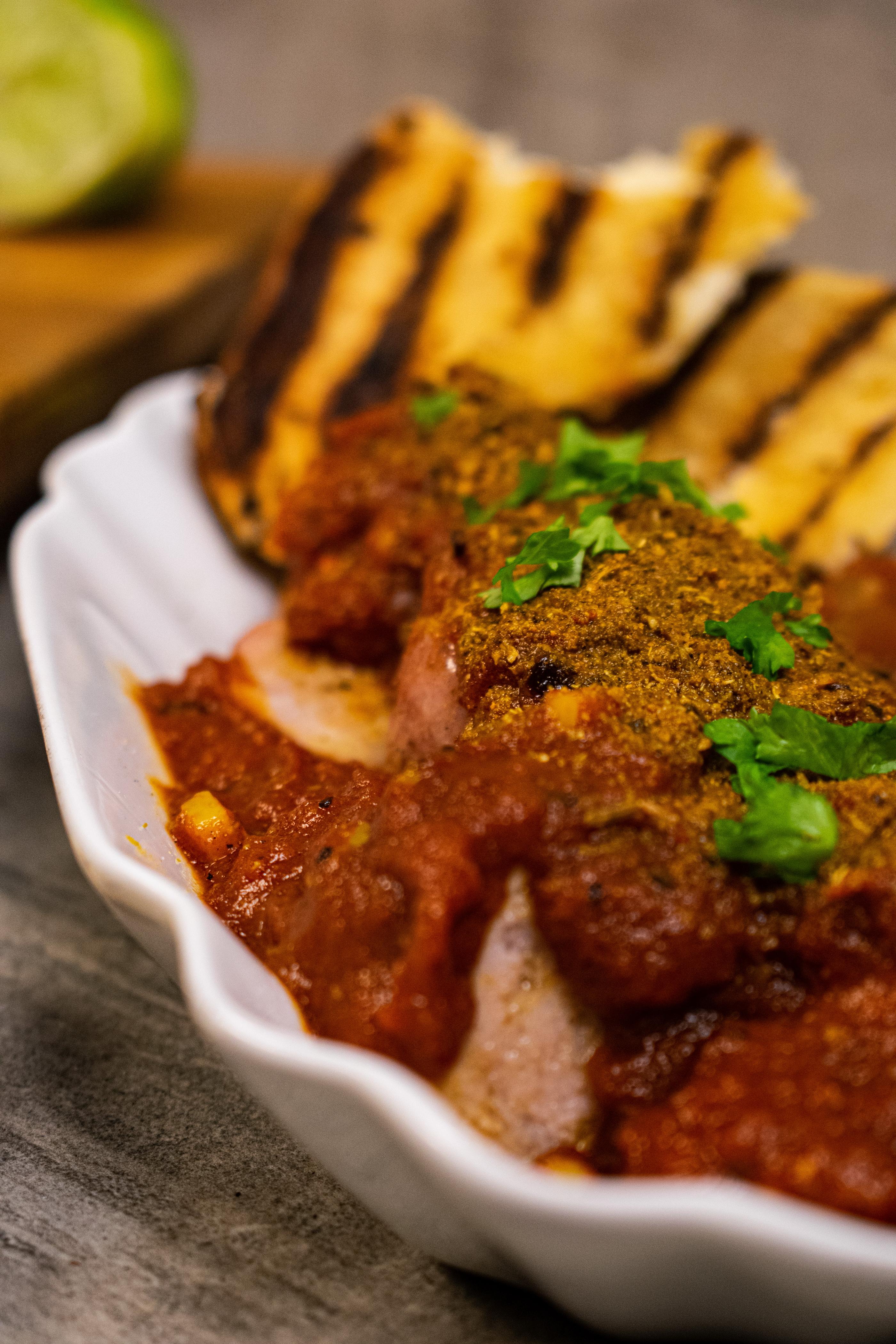 Selbstgemachte Currywurst