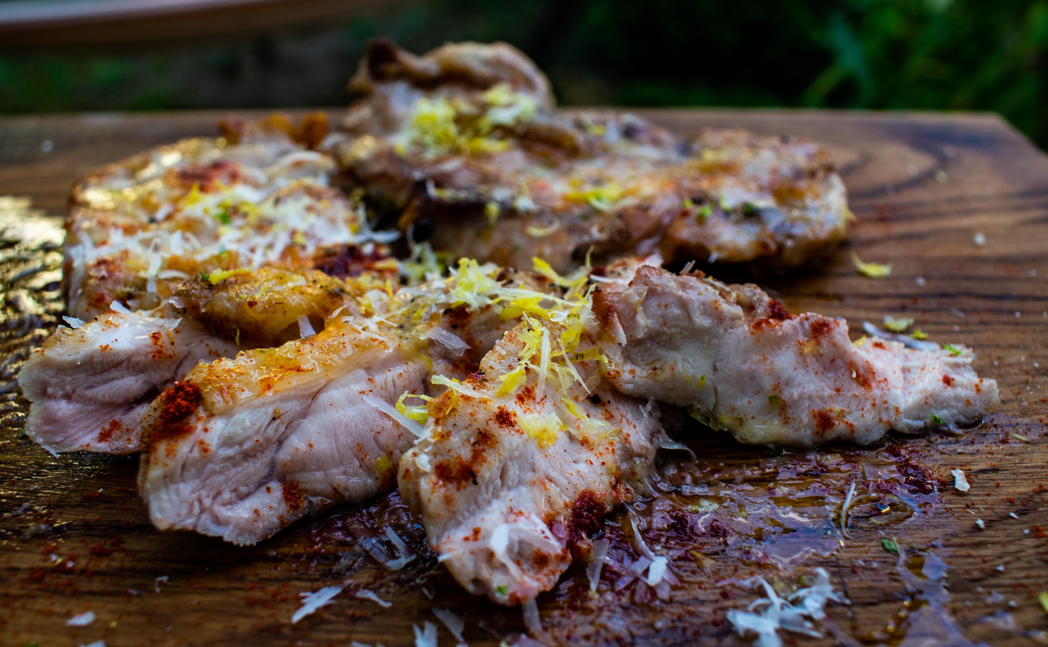 Sommerliches Kachelfleisch