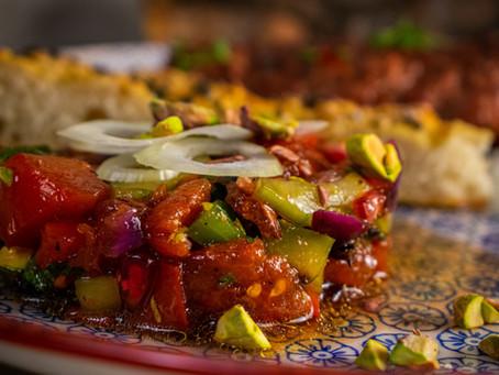Gegrillter Löffelsalat (Gavurdağı Salatasi)