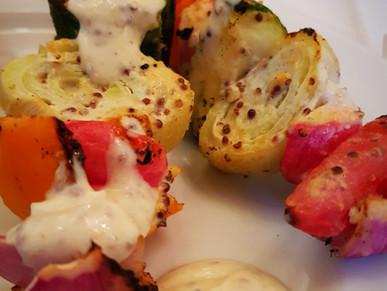 Gemüse-Tandoori Spieße
