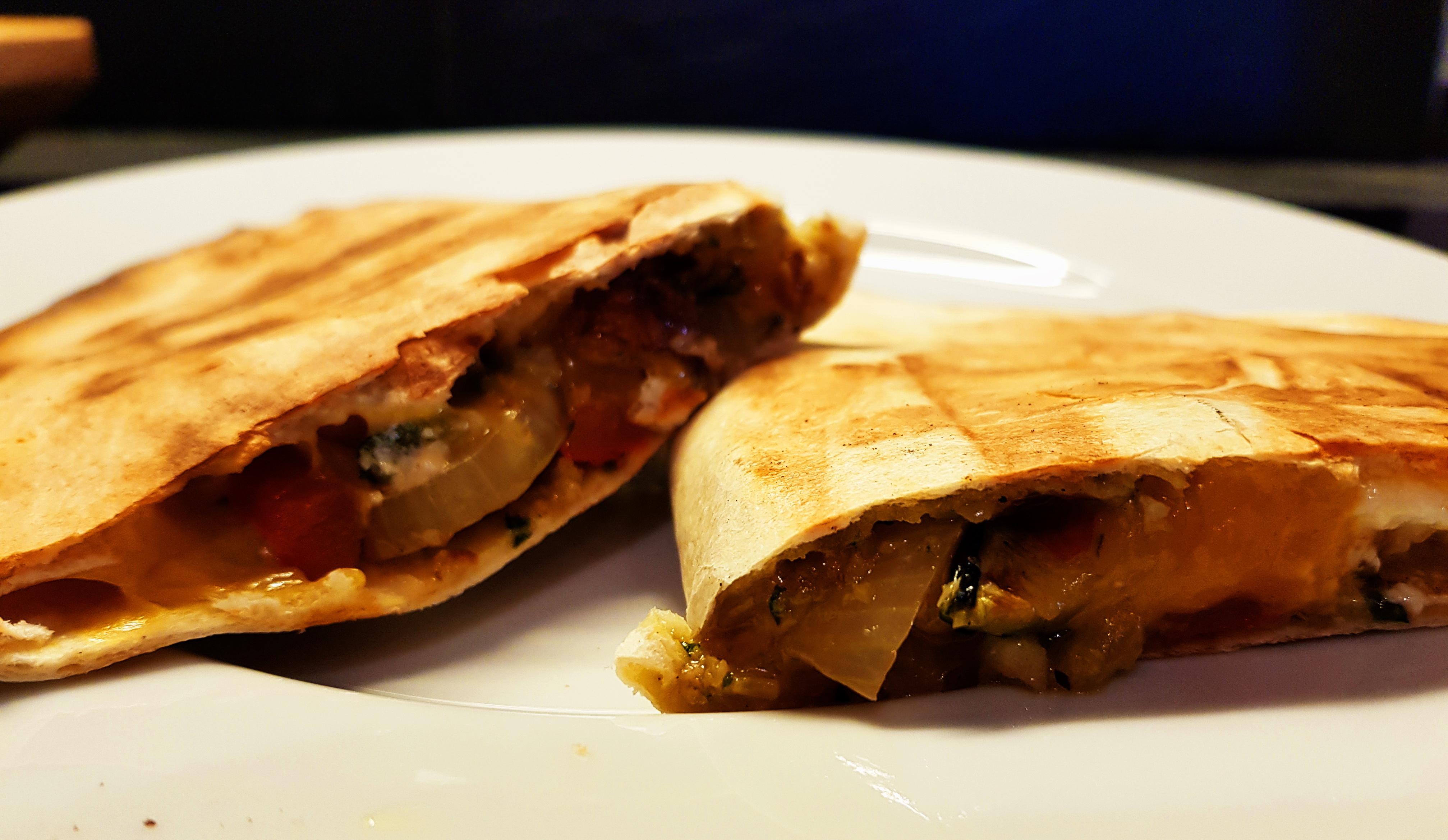 Quesadillas mit Grillgemüse