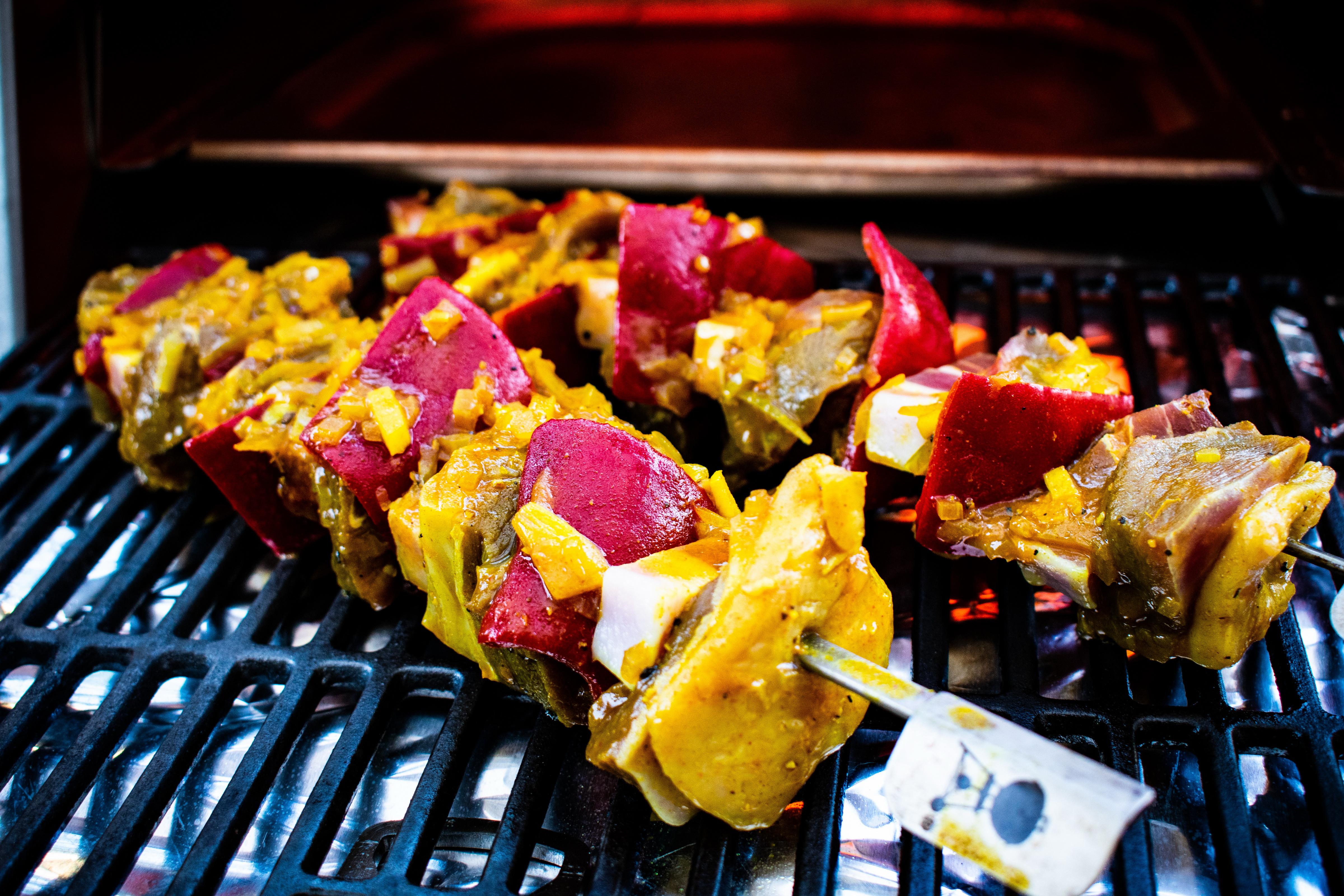 Südafrikanische Roastbeef-Spieße