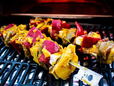 Südafrikanische Roastbeef Spieße