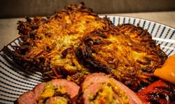 Kartoffelpuffer mit Beefbacon