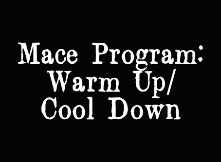 WARM UP/ COOL DOWN