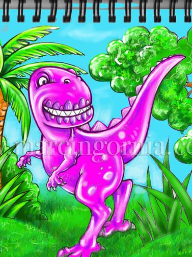 Dino - illustration by Marcin Gornia