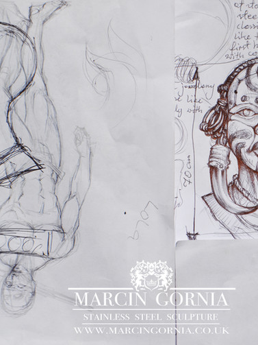 Design sketches illustrations  by Marcin Gornia
