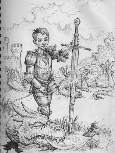 Peater - book illustration by Marcin Gornia