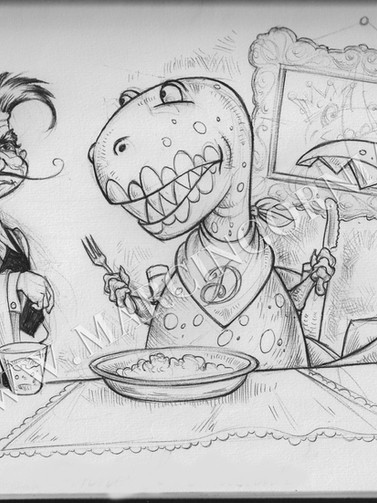 dinner for dinosaur  by Marcin Gornia