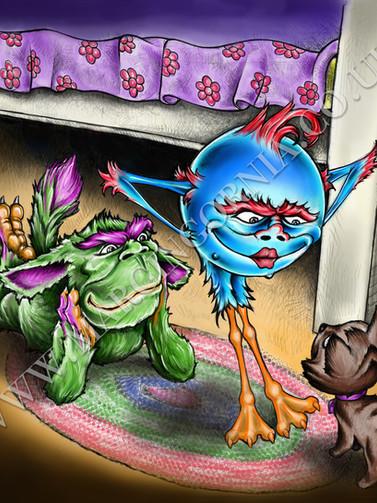 """ Sweet dreams Timi "" book illustration by Marcin Gornia"