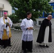 Mgr Faure, l'abbé Picot et R.P. Pierre-Marie O.P.