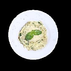 Феттучини с тунцом и шпинатом
