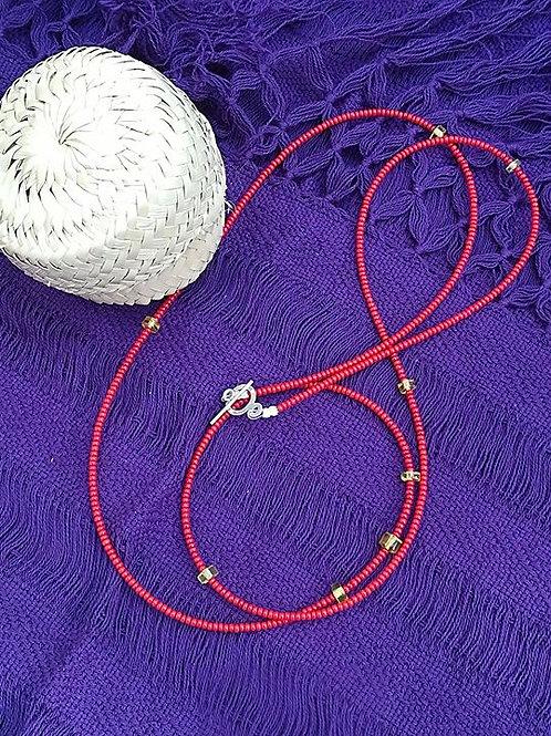 Bracelet collier de ventre avec petits perles d ambres