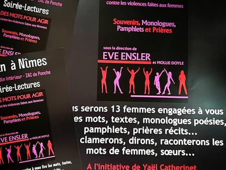 """Des mots pour agir contre les violences faites aux femmes """" de Eve Ensler et Mollie Doyle Le 8"""
