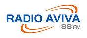 RADIO AVIVA - LOGO RECTANGLE avec fond b