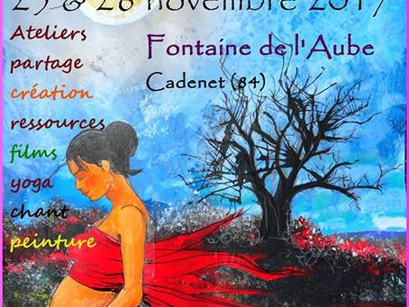 Naissance Sacrée festival 2 édition dans le luberon week- end du 25 novembre 2017.