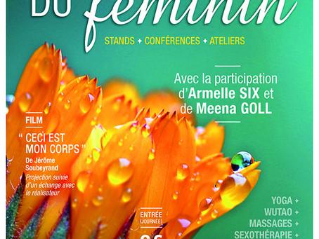 """5e édition du Salon """"Autour du Féminin""""    à Nîmes 24/25 mars 2018"""