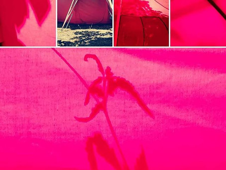 Des soins, acompagnement tout l' été dans la tente rouge..