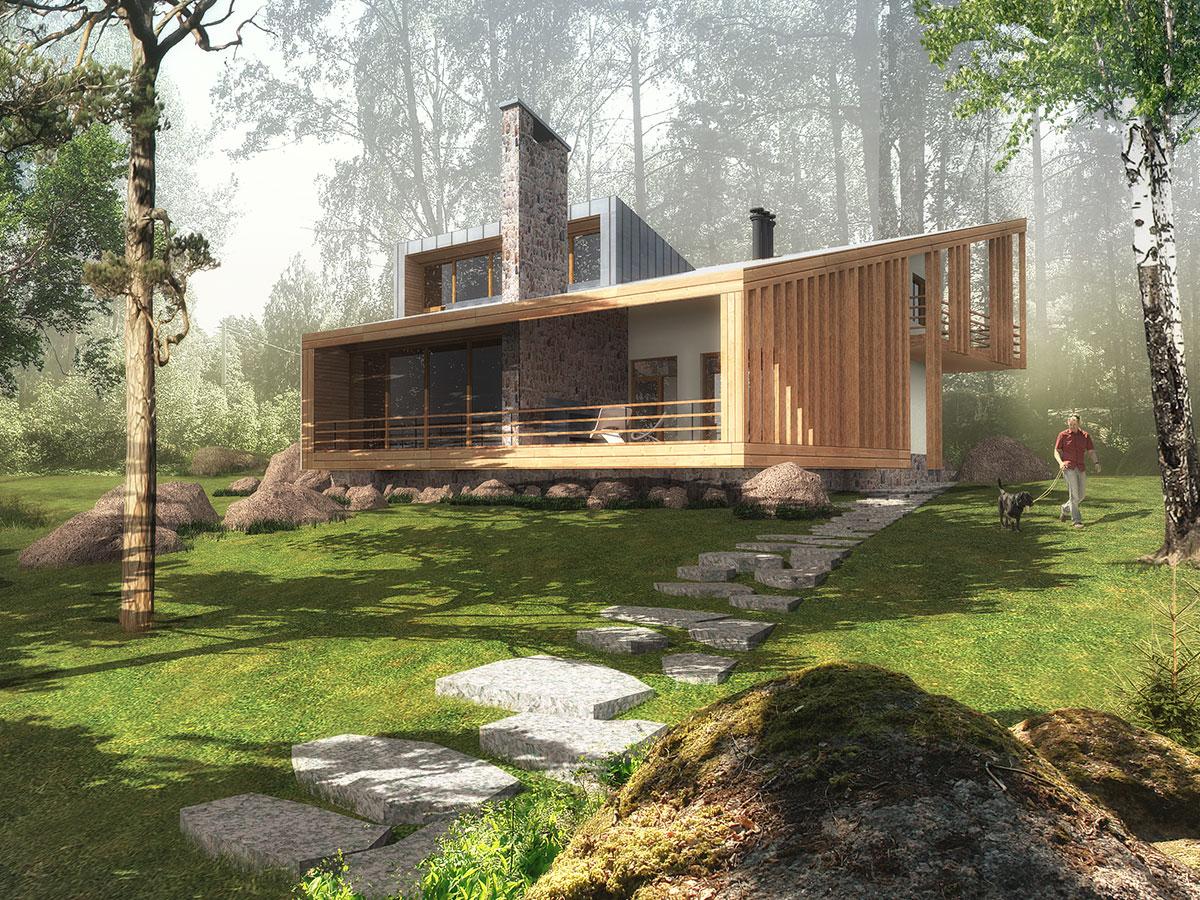 Перспективный вид дома