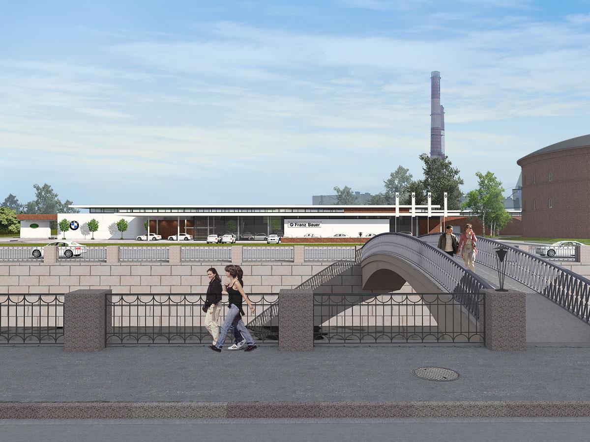 Вид с набережной Обводного канала
