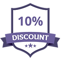 10% descuento púrpura