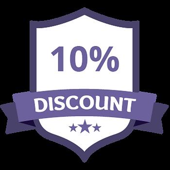 10% Discount Purple