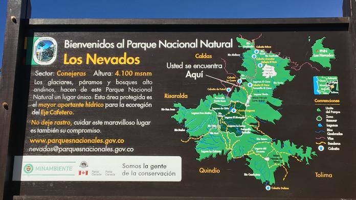 Infotafel Los Nevados Nationalpark
