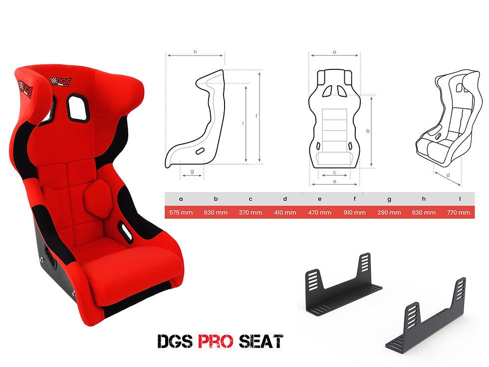 DGS PRO SEAT dimension