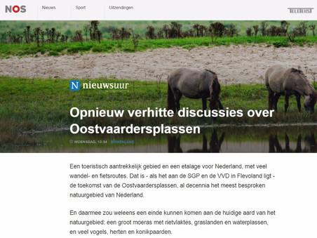 NOS en Trouw schrijven over Dierbaar Flevoland