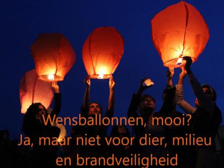 Geen wensballonnen in Lelystad?