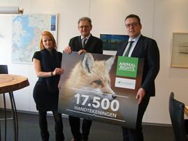 Petitie tegen de jacht op vossen aangeboden