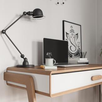 Scandinavian Apartment Visualization - Office