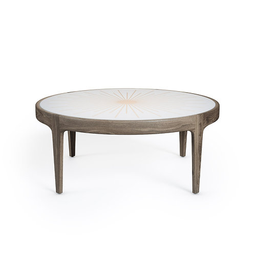 Sunburst Wooden Coffee Table