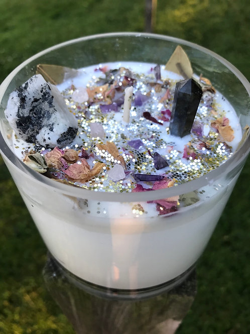 Full Moon Candle in Glass