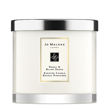 Peony & Blush Suede Deluxe Candle