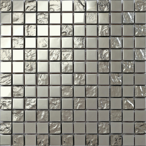 Silber Edelstahl Und Texturiert Glas Mosaik Fliesen Matte Mt0129