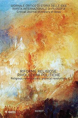 Riforme religiose Rivoluzioni politiche.