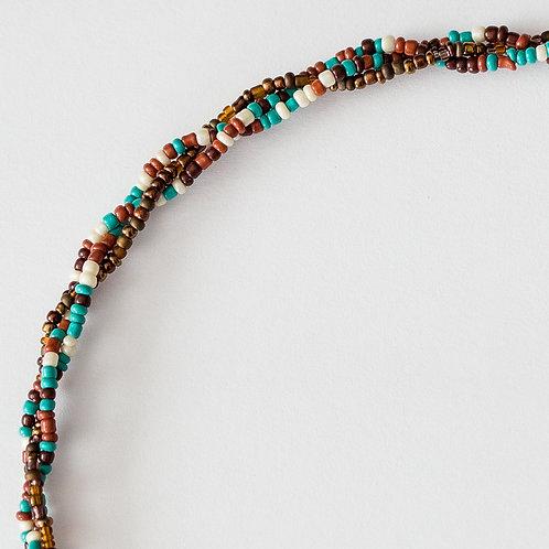 Braided Hint of Turquoise Mask Lanyard