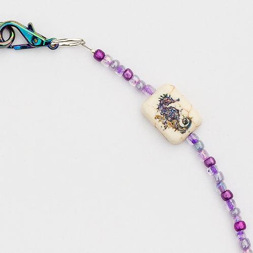 Purple Seahorse Mask Lanyard