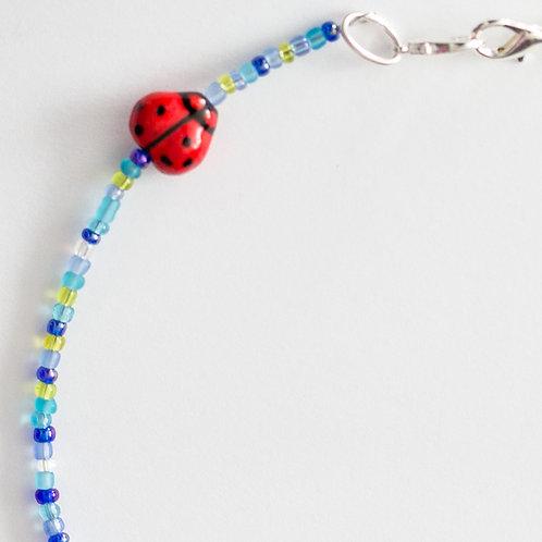 Bright Ladybug Mask Lanyard