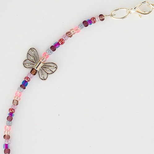 Purple Butterflies (hollow) Mask Lanyard
