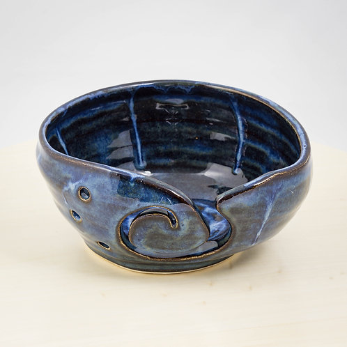 Blue and Brown Yarn Bowl