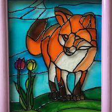 Fox and Tulips