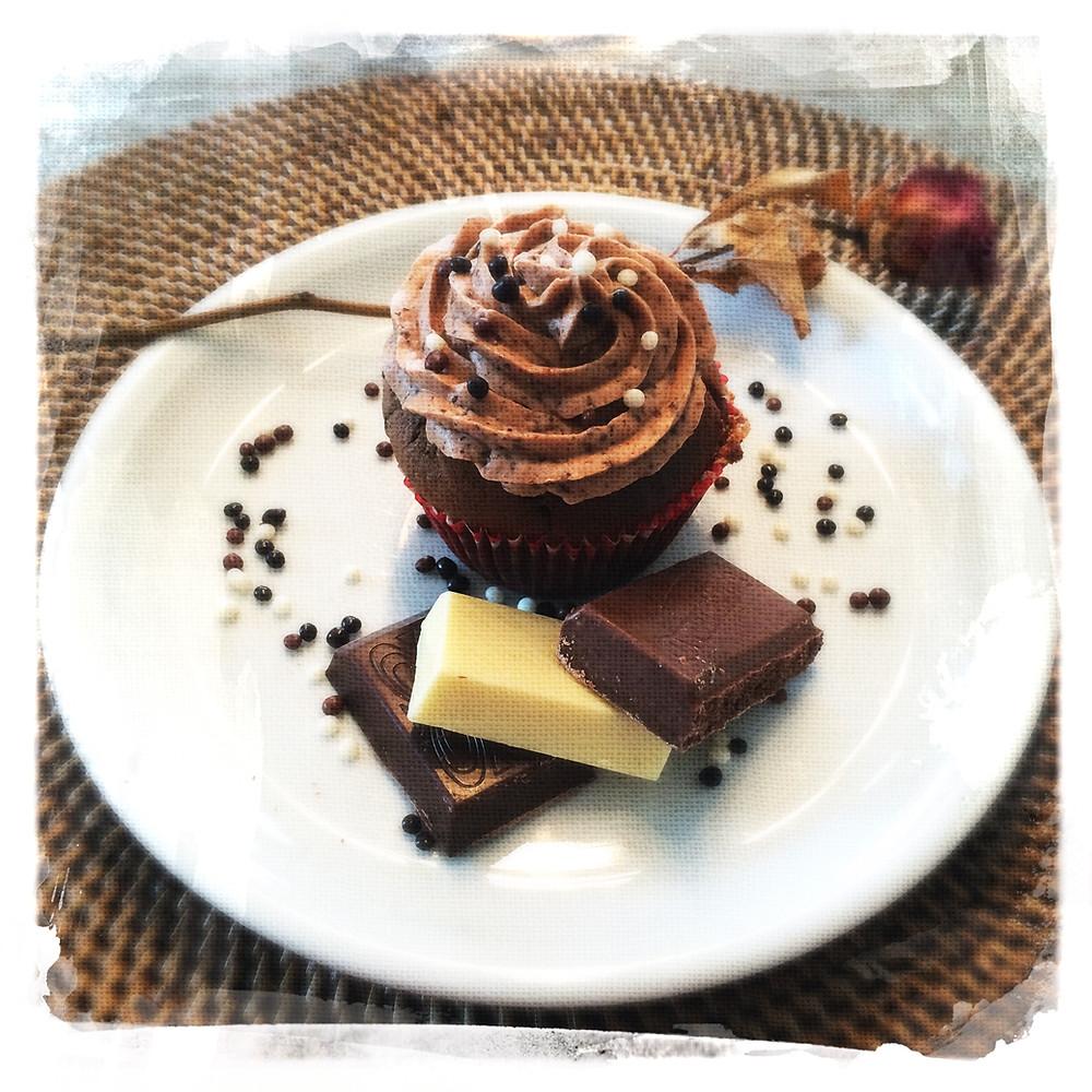 Cupcake 3 chocolats