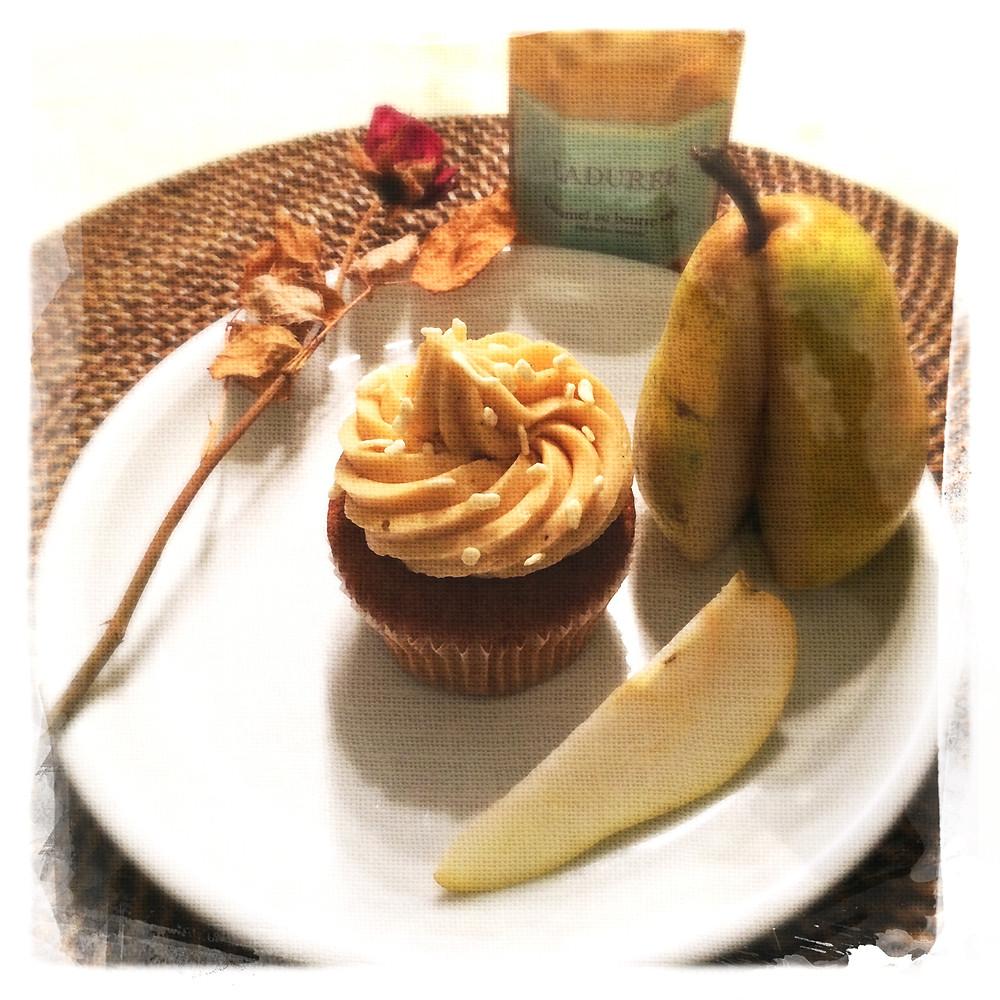 Cupcake Poires/Caramel beurre salé