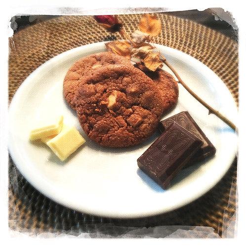 Chocolat/Pépites chocolat blanc