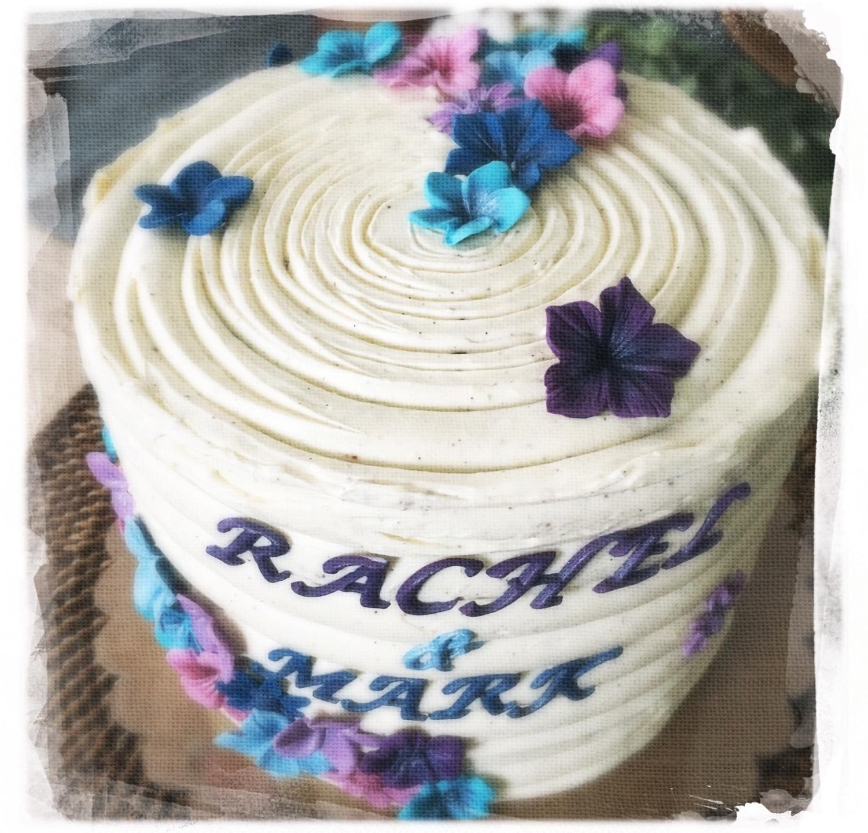Gâteau mariage fleuri VI