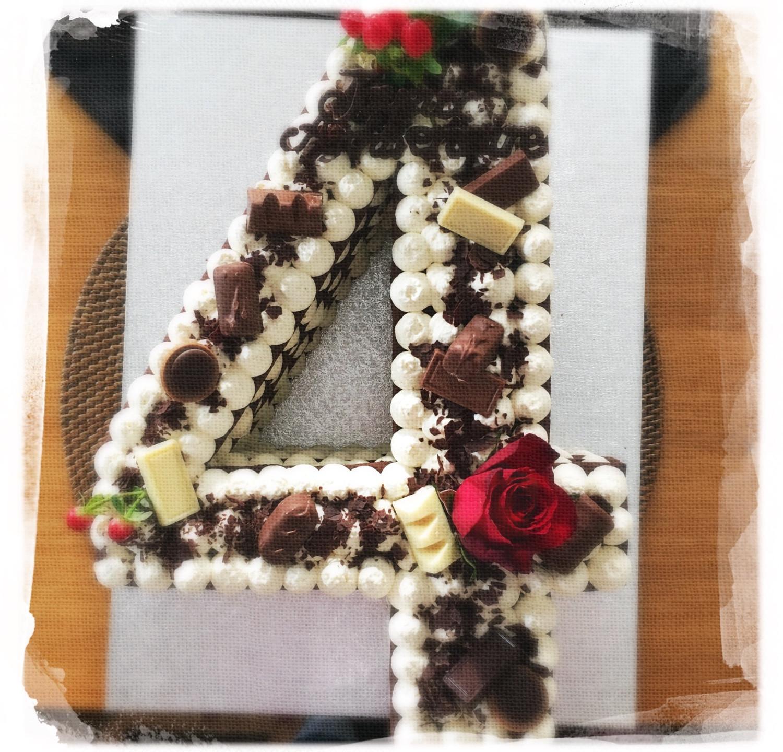 Number cake choco I